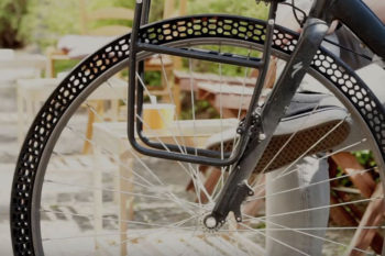 BigRep 3D printed bicycle tire that could be indestructible