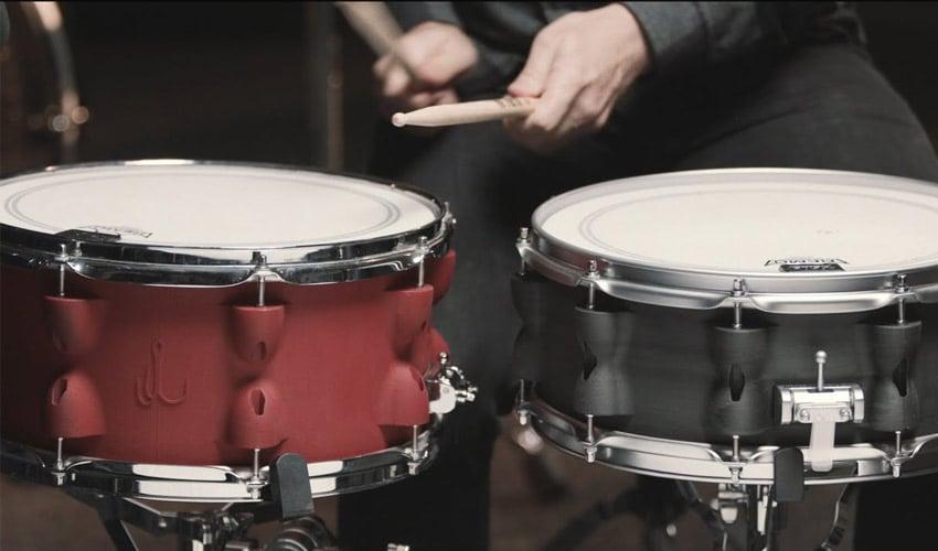 3D printed snare drums