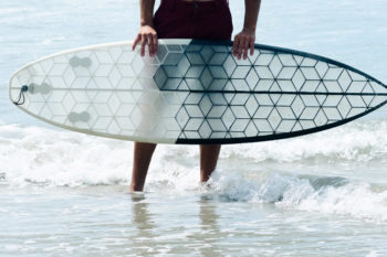 HEXA Surfboard and its 3D printed eco-surfboards
