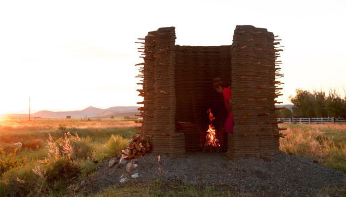 3D printed huts