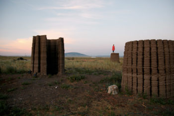 Mud Frontiers are 4 3D printed huts that showcase sustainable construction method