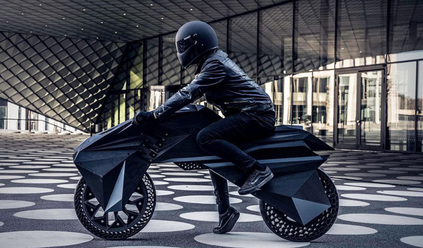 3D printed electric motorcycle