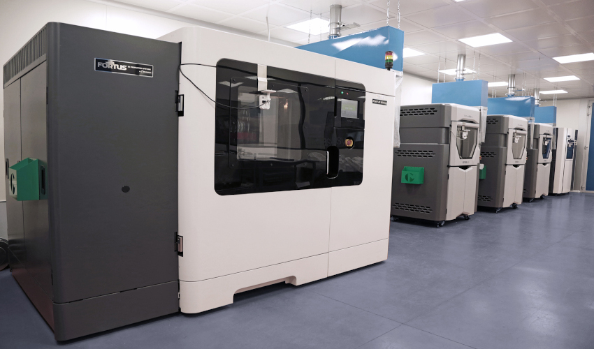 Stratasys 3D printers in Marchesini packaging production facility