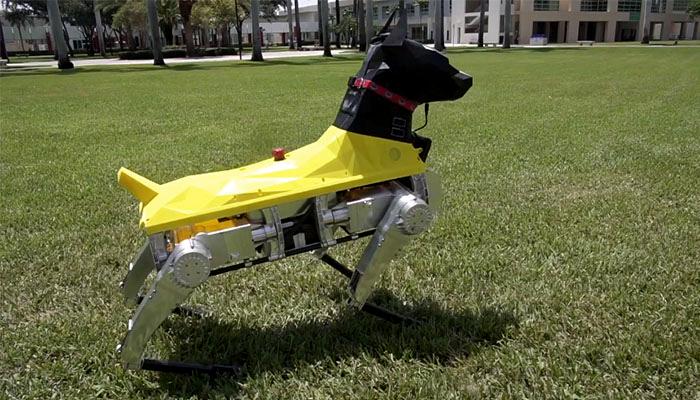 perro robot impreso en 3D