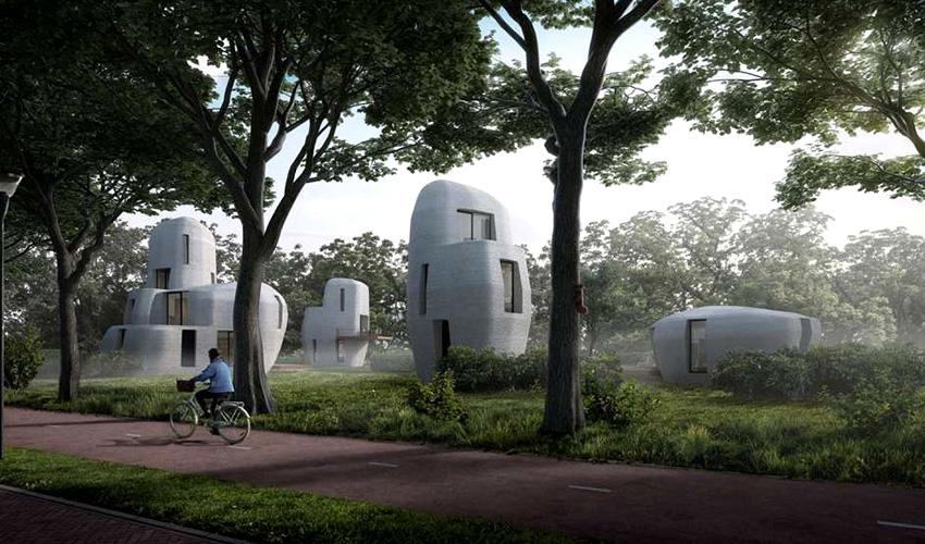 casas impresas en 3D en Holanda
