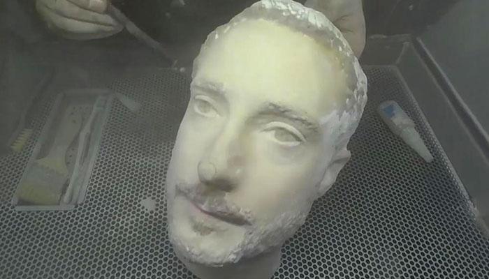 cabeza impresa en 3D