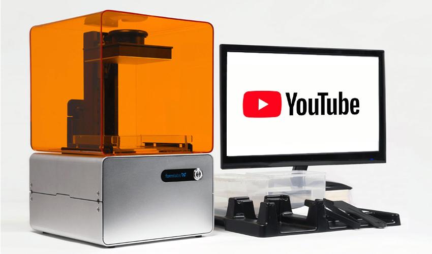 impresión 3D en Youtube