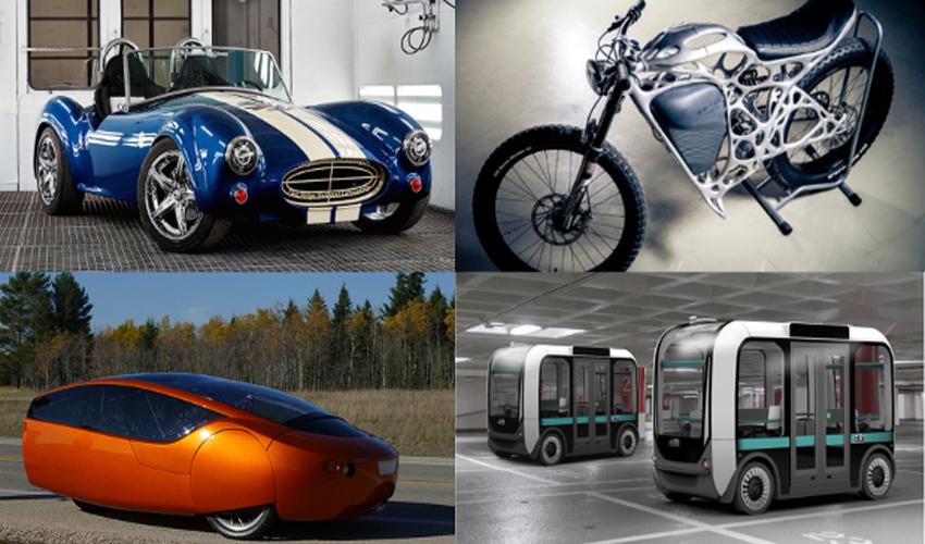 Top 12 con los mejores vehículos impresos en 3D