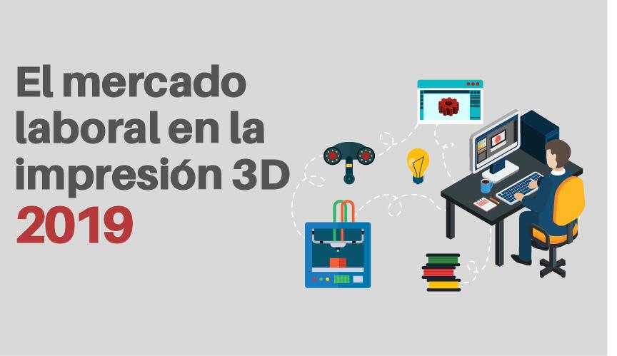 Mercado laboral en la impresión 3D
