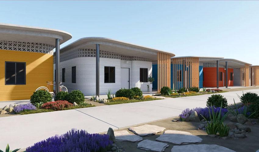 urbanización casas impresas en 3D
