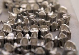 Aparatos dentales realizados con la técnica SLS // Copyright EOS