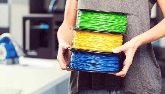 plásticos en la impresión 3D