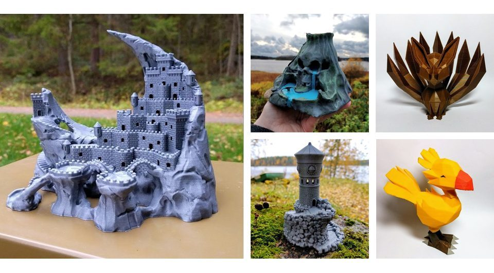 Jukka Seppänen y sus modelos 3D de mundos mágicos