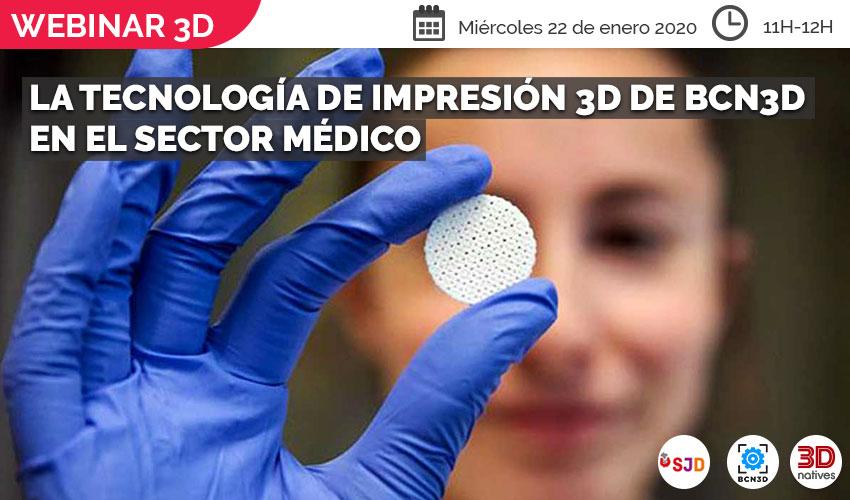 impresión 3D en el sector médico