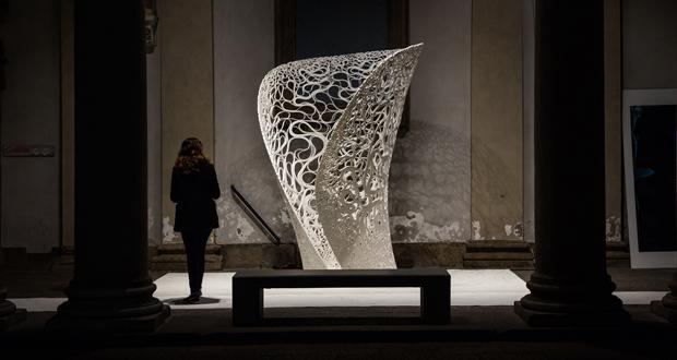 Zaha Hadid Architects creó una increíble estructura con impresión 3D