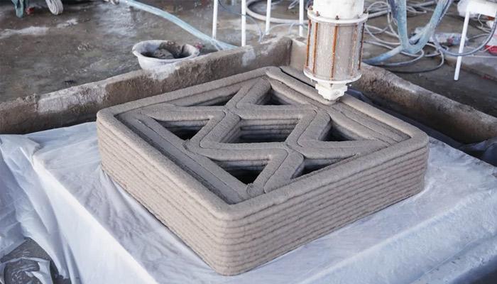 puente de hormigón impreso en 3D