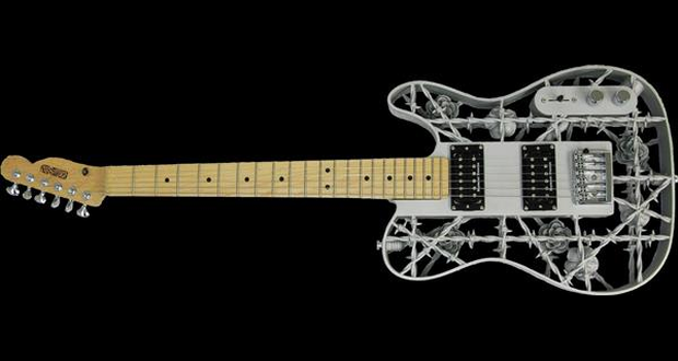 Guitarra de aluminio