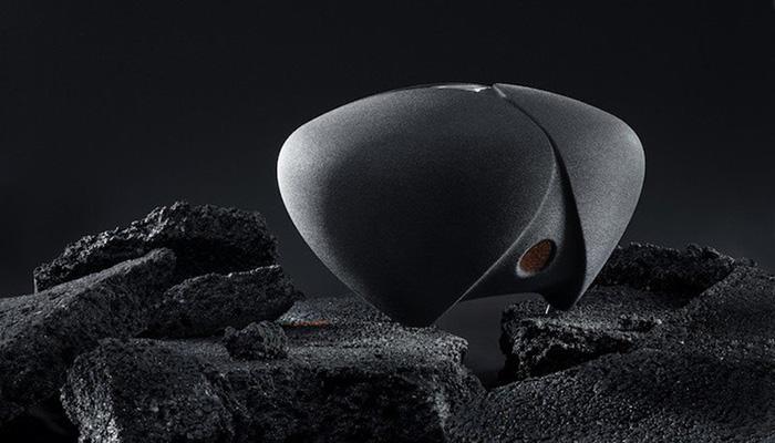altavoces impresos en 3D con arena