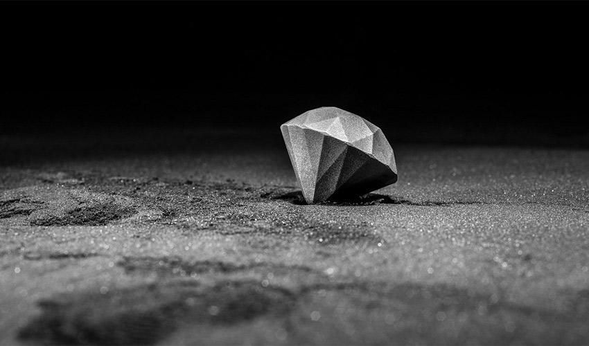Diamante impreso en 3D