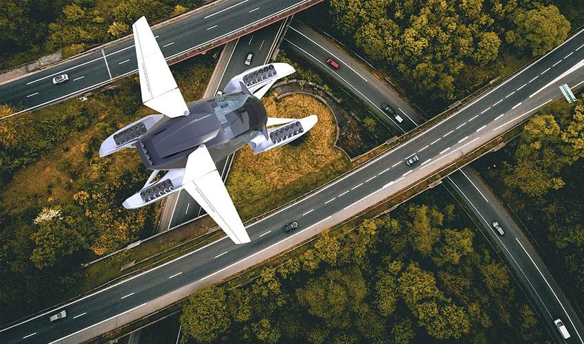 coche volador impreso en 3D