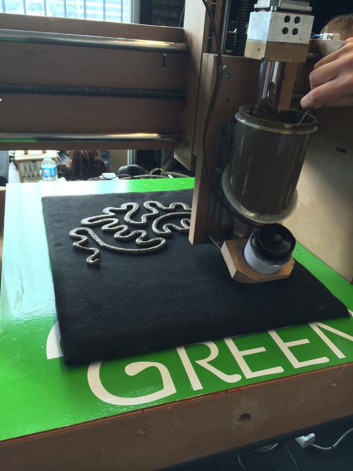 Imprimiendo la forma inicial en barro