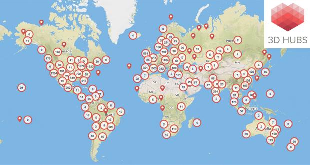 La comunidad de 3D Hubs ha llegado a 160 países