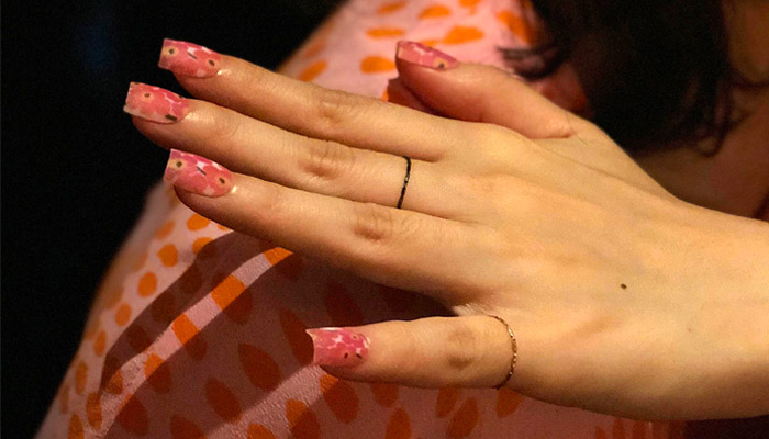 Mani me and their 3D printed Nails