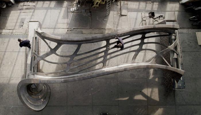 puente de acero impreso en 3D