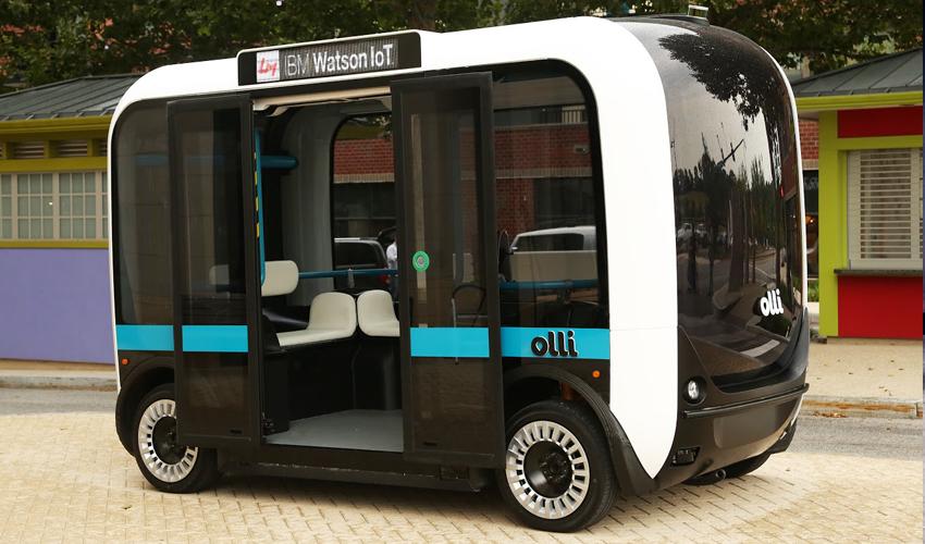 Olli: el transporte público impreso en 3D que se autoconduce