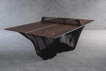 Una original mesa de ping pong impresa en 3D
