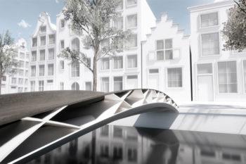Primer puente de plástico impreso en 3D reforzado con fibra de vidrio