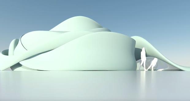 Edificio europeo impreso en 3D