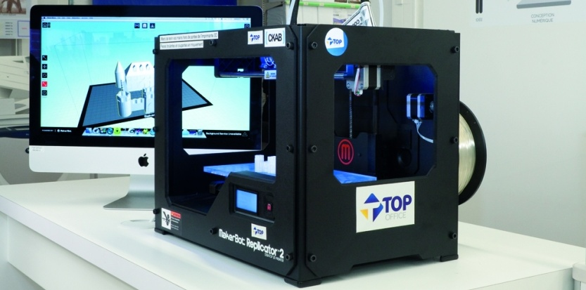 Top office largit son offre avec l 39 impression 3d entre for Imprimante 3d bayonne