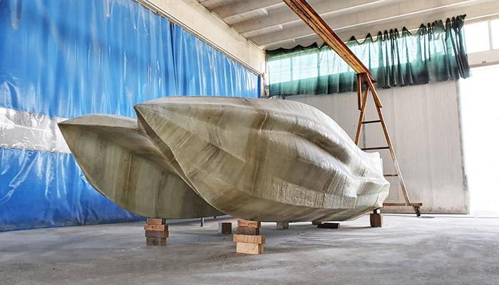 3D printed fiberglass boat