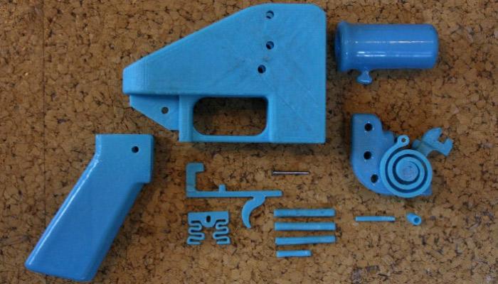 armes imprimées en 3D
