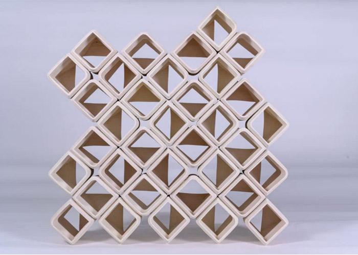 3D printed ceramic blocks