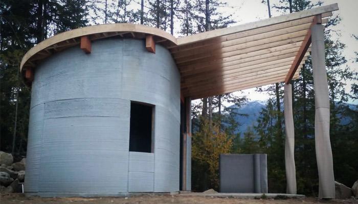 TAM 3D printed house