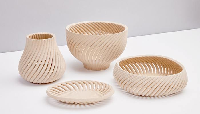Designer Yves Béhar has created a collection of 3D printed wooden products (Photo credits: Forust)