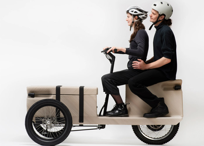 A 3D printed electric tricycle