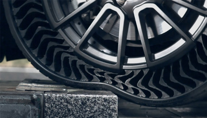 The punctureless, aireless tire from Michelin