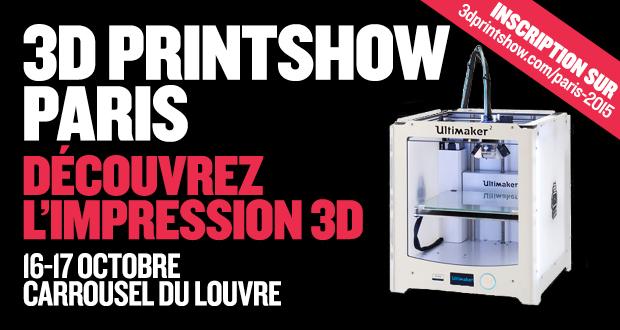 3d printshow 2015 paris agenda 3dnatives for Salon impression 3d