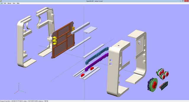 le fichier 3D de la NESPo réalisé à partir d'OPENScad