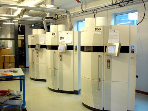 Une partie du parc d'imprimantes européen basé à Eindhoven