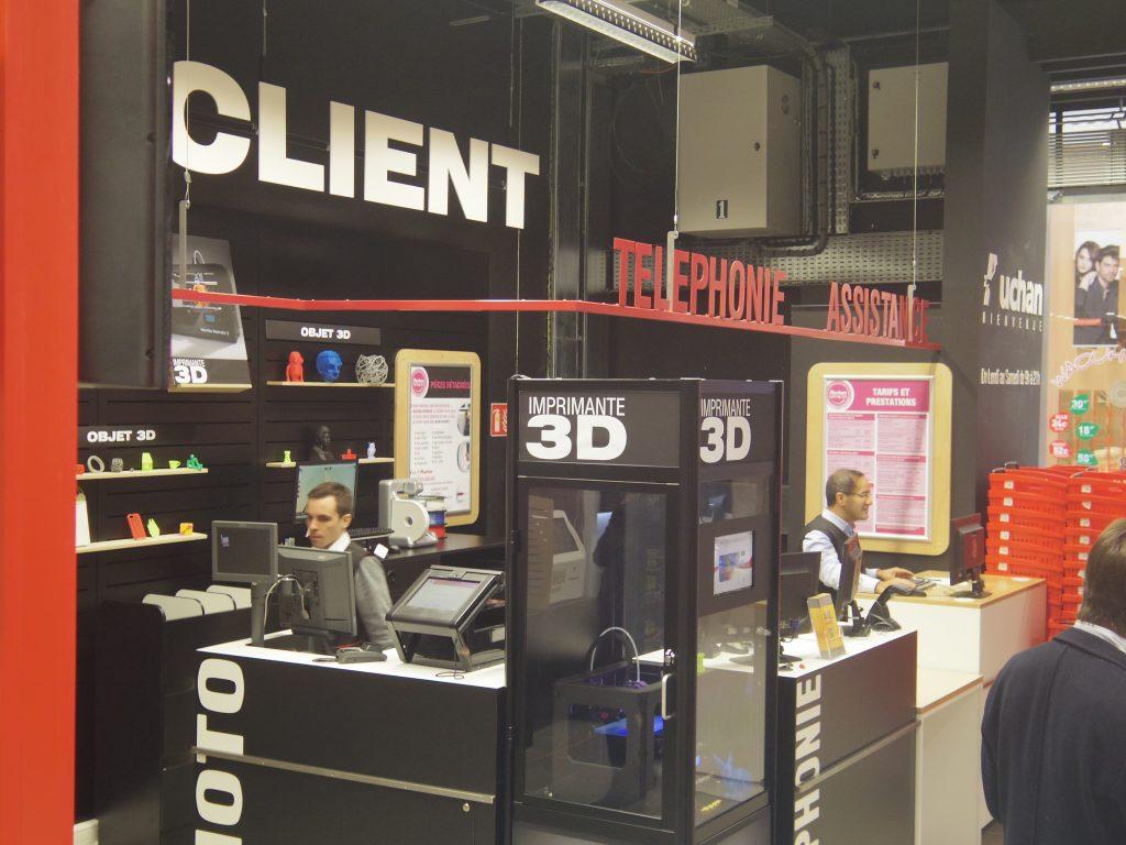 En 2013, Auchan lançait son premier corner Impression 3D en magasin