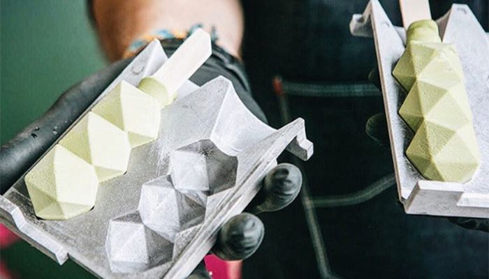 glace imprimée en 3D