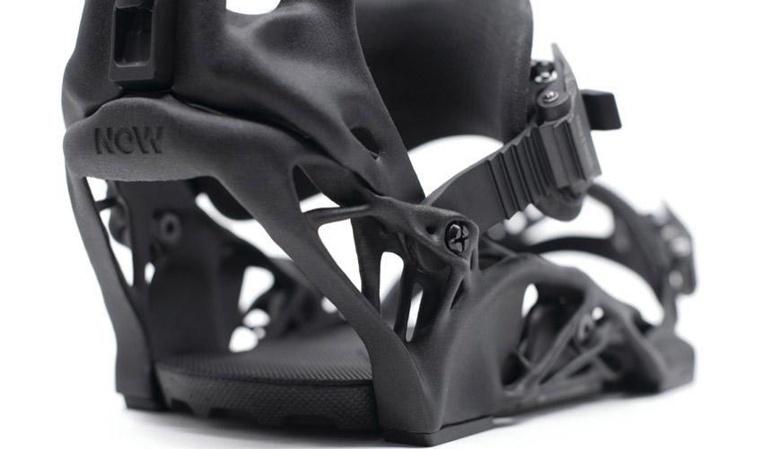 fixations de snowboard imprimées en 3D