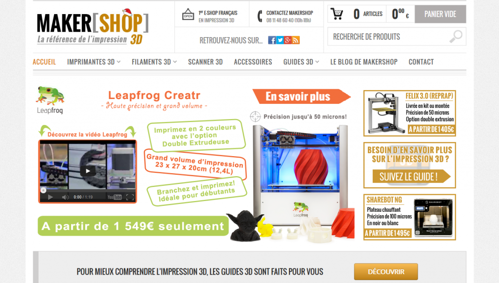 Screenshot makershop.fr