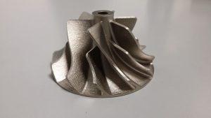 Turbine imprimé en 3D en inconel 718