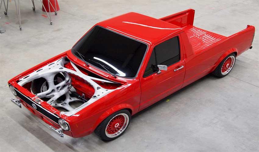 La structure avant d'une VolksWagen Caddy 1 imprimée en 3D