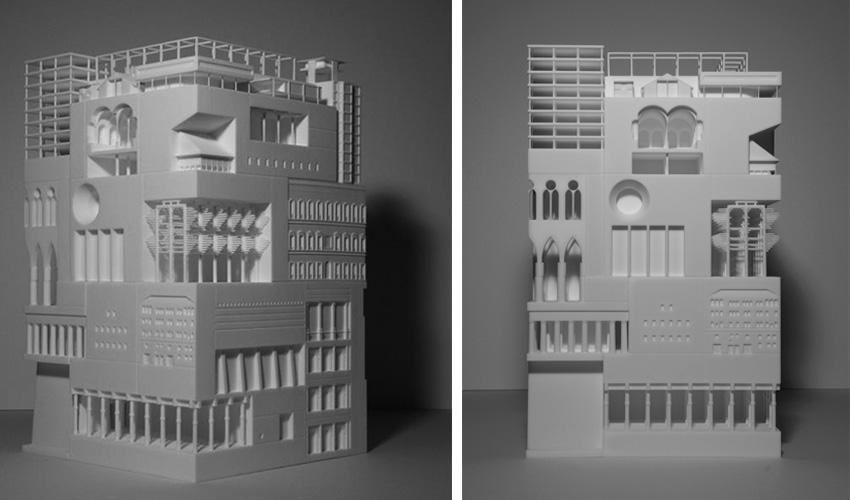 L'impression 3D réunit plus de 30 styles architecturaux différents